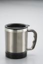 リーブル フタ付マグカップ260ml(クリアブラック)