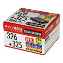 互換インクカートリッジ キヤノン用 326+325 5色パック