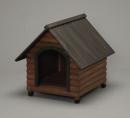 ログ犬舎 ダークブラウン LGK−750