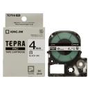 キングジム テプラテープ 4mm 白SS4K