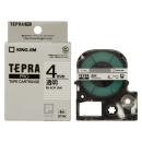 キングジム テプラテープ 4mm 透明ST4K