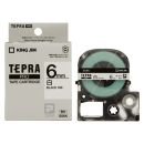 キングジム テプラテープ 6mm 白SS6K