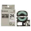 キングジム テプラテープ 24mm 白SS24K