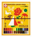 サクラ クレパス ふとまき 24色 ゴムひも付き