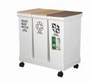 資源ゴミ横型3分別ワゴン