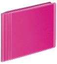 コクヨ フォトアルバム<ノビ−タ>E・Lサイズ 透明ピンク