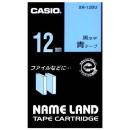 ネームランドテープ 12mm幅 青地に黒文字