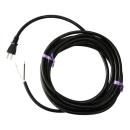 電動工具取替えコード 15A 黒 5M