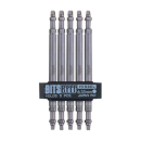 ベッセル スクエアビットセット 5本組  サイズ:SQNO.3(9/64インチ)�I110mm