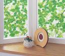 窓飾りシート 46×90cm グリーン(リーフ) GE−4635