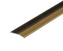 アルミ への字 じゅうたん押え 幅35mm×1m アンバー D307−1