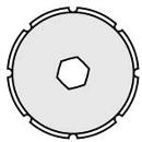 OLFA ミシン目ロータリー 替刃 2枚入ブリスター XB173