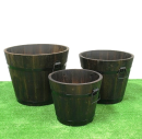 焼杉プランター 深丸(小) 径29cm×高23cm