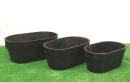焼杉プランター 小判(大) 幅50cm×奥30cm×高さ21cm