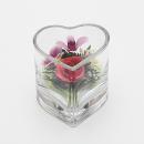 ボトルフラワー ミニハート型グラス ラン・バラ SHCHOR