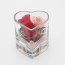 ボトルフラワー ミニハート型グラス バラ SHCHR