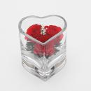 ボトルフラワー ミニハート型グラス バラ レッド SHCHR