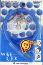 GORIN(ゴリン) ワイヤーロック [ブルー] 70cm ディンプルキー3本付属 G222WB