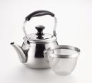 オルティ 18−8ステンレス製 広口ケットル3.0L 茶こしアミ付 HB−7125