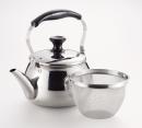 オルティ 18−8ステンレス製 広口ケットル4.0L 茶こしアミ付 HB−7126