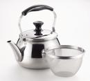 オルティ 18−8ステンレス製 広口ケットル5.0L 茶こしアミ付 HB−7127
