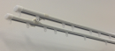 C型伸縮式カーテンレール ホワイト ダブル 1.1〜2.0m