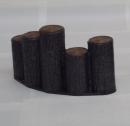 サンポリ プラスチック製擬木 はなえ80 5連段違型アーチ200
