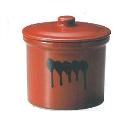 ヤマキイカイ 紅星窯 漬物容器 蓋付切立瓶 3号 A10 3688ao