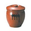 ヤマキイカイ 紅星窯 漬物容器 蓋付半胴瓶 3号 A3 3681ao
