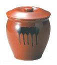 ヤマキイカイ 紅星窯 漬物容器 蓋付半胴瓶 5号 A5 3683ao