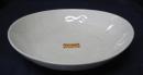 雪粉引 楕円7.0深皿