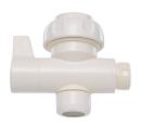 三栄水栓 【切替コック】 ホワイト 先端に取り付けるタイプ PU6-66F-13