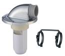 SANEI 洗濯機排水トラップ VP・VUパイプ兼用 ダブルバンド付 メッキ仕様 H5502M-50