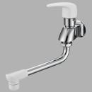 三栄水栓 【セラミック水栓】 シングル自在水栓 パイプの長さ170mm POS付 JA1071-13