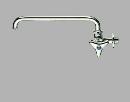 SANEI 【横形自在水栓】 呼び13 長さ300mm POS付 JA20J-L3-13