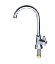 三栄水栓 ミニセラ立形ツル首自在水栓 JA565-13