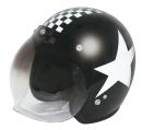 CEPTOO[セプトゥー] ジェットヘルメット [ブラック/ホワイトチェッカー] 57〜59cm未満 CS-212