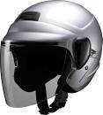 マルシン工業 セミジェットヘルメット M-530 シルバー フリーサイズ(57〜59cm)