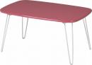 不二貿易 ドット柄 ロー テーブル ピンク 93218