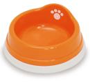 すべり止め付きペット皿(ミニ) オレンジ