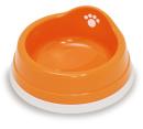 すべり止め付きペット皿(小) オレンジ