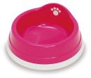 すべり止め付きペット皿(小) ピンク