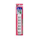 ELPA LEDランプ スイッチ付タップ 6P1m上 WLS-LU61EB(W)