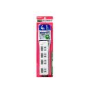 アサヒデンキ スイッチ付タップ上4P1m WLS-LU41EB