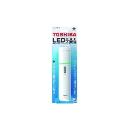 東芝 LED常備灯(懐中電灯) 高輝度白色LED 暗闇でも光る蓄光リング付 グリーン KFL-124(W)
