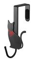 ペアドアハンガー 猫 ブラック 7937