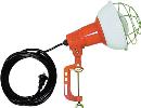 ハタヤ 防雨型作業灯 リフレクターランプ300W 100V電線0.3m バイス付