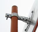 支柱取り付け金具(大)ステンレス製(約50Φ用)
