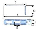WAKI 補助金具ユニクロL型 BS-777 40X50X120 571500