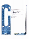 WAKI 補助金具ユニクロL型 BS-784 30X100ナガアナ 572200